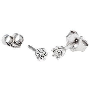18 karátos gyémánt fülbevaló