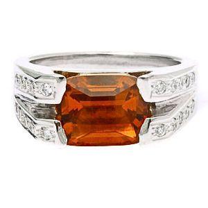 Citrin köves gyémánt gyűrű